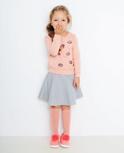 Sweater mit Küsschenprint